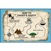 Treasure Map Personalized Invitations