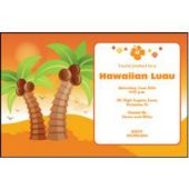 Palm Tree Sunset Personalized Invitations