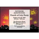 Fireworks Show Personalized Invitations