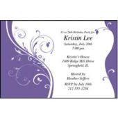Purple Sophisticate Personalized Invitations