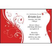 Red Sophisticate Personalized Invitations