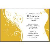 Yellow Sophisticate Personalized Invitations
