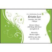 Kiwi Sophisticate Personalized Invitations