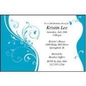 Ocean Blue Sophisticate Personalized Invitations