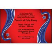 Patriotic Scroll Personalized Invitations