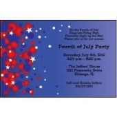 Patriotic Bubbles Personalized Invitations
