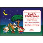 Cartoon Campfire Personalized Invitations