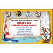 Ahoy Ship Mate Personalized Invitations