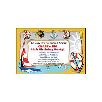 Ahoy Ship Mate Invitations