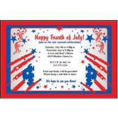Patriotic Happy 4th Of July Personalized Invitations