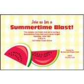 Watermelon Time Personalized Invitations