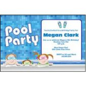 Pool Party Personalized Invitations