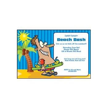 Fun at the Beach Personalized Invitations
