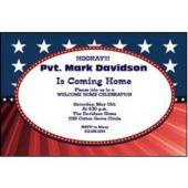 Patriotic Sophistication Personalized Invitations