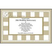 50th Anniversary  Personalized Invitations