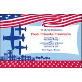 Patriotic Fly Over Personalized Invitations