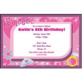Party Princess Personalized Invitations