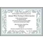 Silver Scroll Personalized Invitations
