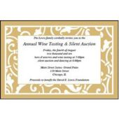 Gold Scroll Personalized Invitations