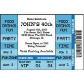 Blue Ticket Personalized Invitations