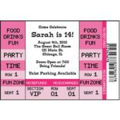 Pink Ticket Personalized Invitations