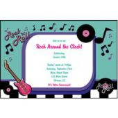 Rock N Roll Personalized Invitations