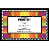 Fiesta Stripes Personalized Invitations