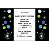 Champagne Bubbles Personalized Invitations