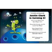 Space Alien Personalized Invitations