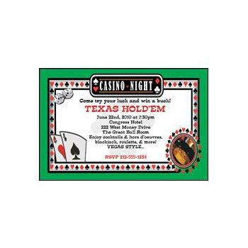 Card Party Personalized Invitations