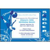 Hip Soccer Blue Personalized Invitations