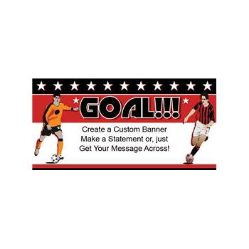 Soccer Goal Custom Banner