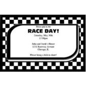Black & White Check Personalized Invitations