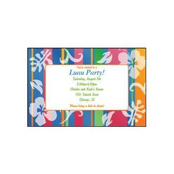 Bahama Breeze II Custom Invitations