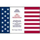 Patriotic Flag Personalized Invitations
