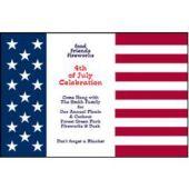 Patriotic Flag Personalized Invitations