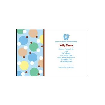 Blue Tiny Toes Personalized Invitations