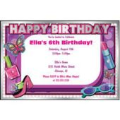 Glitzy Girl Personalized Invitations