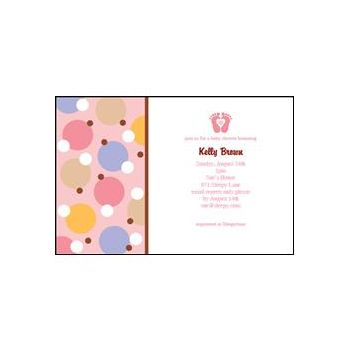 Pink Tiny Toes Personalized Invitations