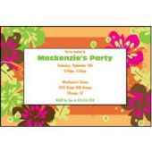 Aloha Orange Personalized Invitations
