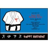 Black Belt Personalized Invitations