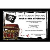 Pirate Party Custom Invitations
