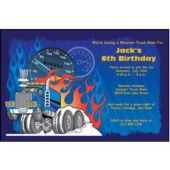 Monster Truck Personalized Invitations