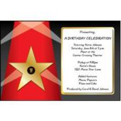 Fame Star Personalized Invitations
