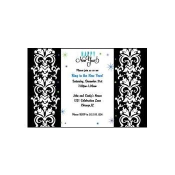 Happy New Year Personalized Invitations