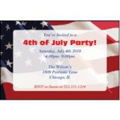 American Flag Personalized Invitations