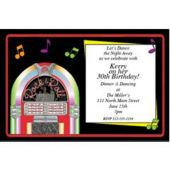 Jukebox Night Personalized Invitations