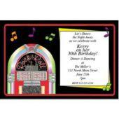 Jukebox Night Personalized Invitations