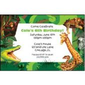 Jungle Safari Personalized Invitations