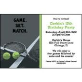 Game Set Match Personalized Invitations